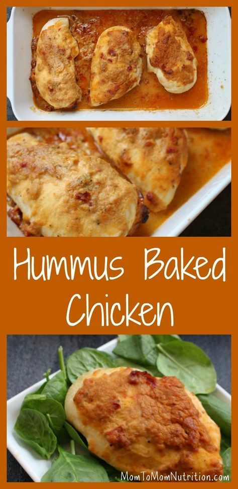 A Simple Chicken Breast Gets Topped With Creamy Hummus For One Weeknight Meal That S Ready In