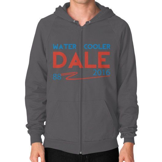 Water Cooler Dale - Zip Hoodie (on man)