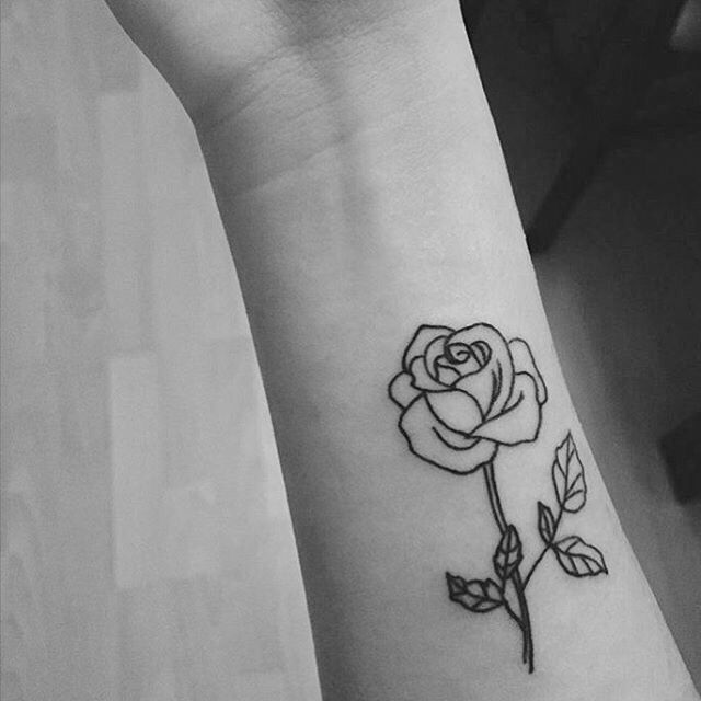 Rose Outline Tattoo Small Rose Tattoo Tattoos Rose Tattoos