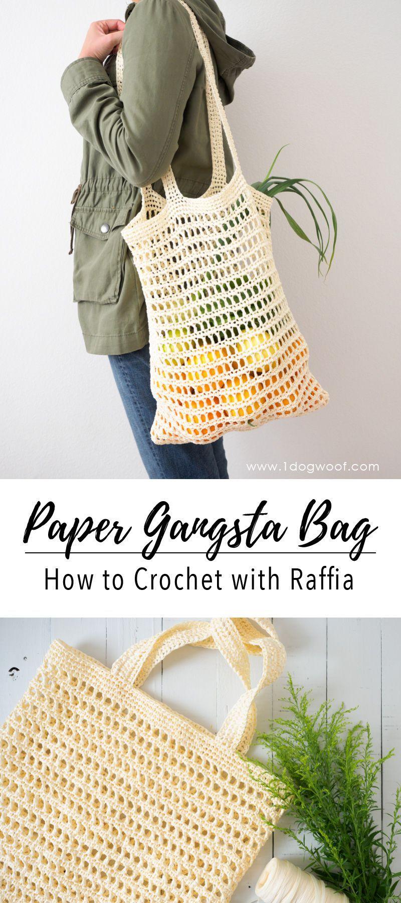 Paper Gansta Bag - How to Crochet with Raffia | bolsas | Pinterest ...