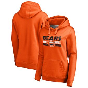 e22d6e273 Women s Chicago Bears NFL Pro Line by Fanatics Branded Orange First String  Pullover Hoodie