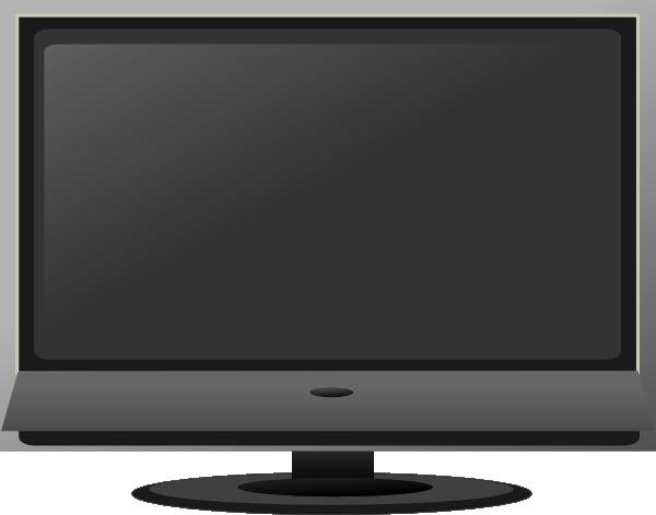 Flat Screen Tv Clip Art Vector Clip Art Online Royalty Free Public Domain Clip Art Flat Screen Monitor
