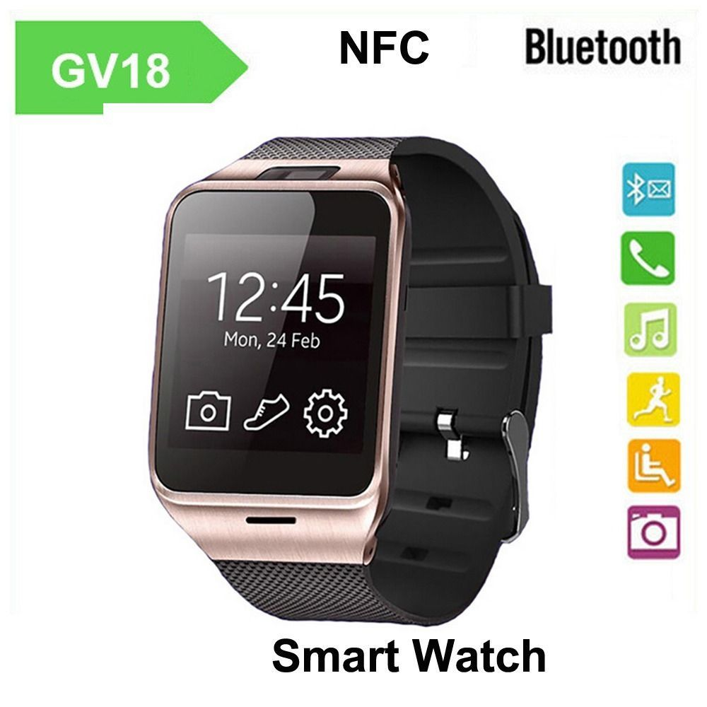 GV18 Waterproof Bluetooth Smart Watch GSM NFC Camera SIM