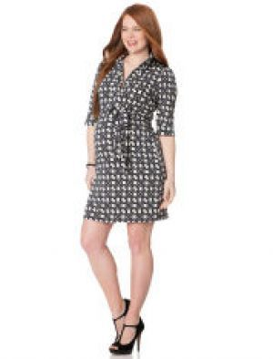 apeainthepod Laundry By Shelli Segal Belted Maternity Shirt Dress.jpg