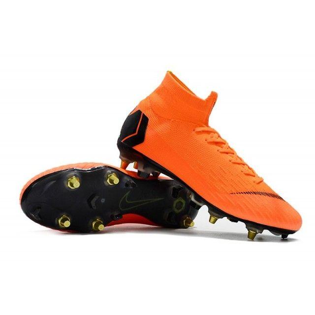 27f127f38 Nike Football Studs - Nike Mercurial Superfly VI Elite SG AC Total Orange  Black Total Orange Volt - Wide Soccer Cleats - Soft Ground - Mens Size 38
