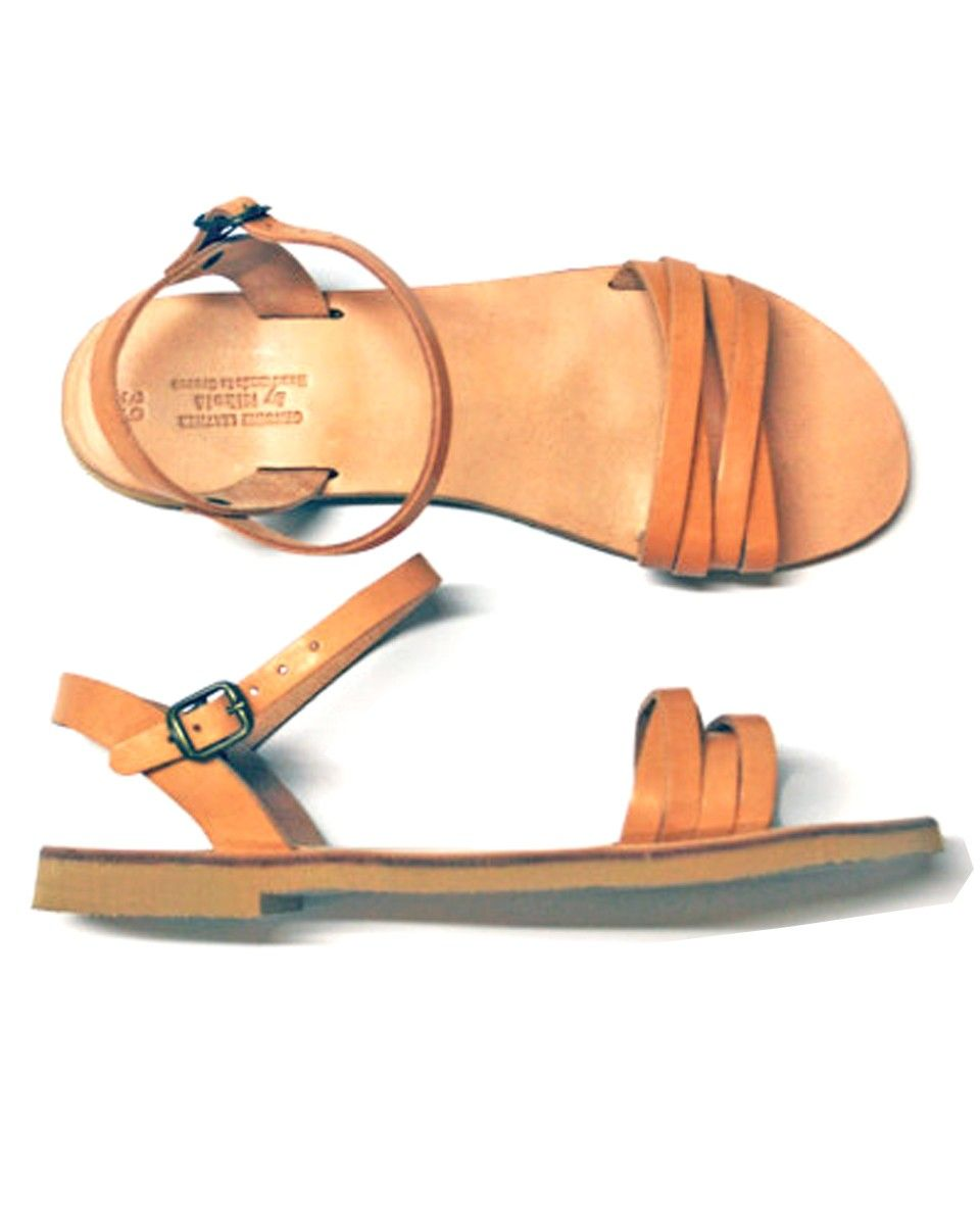 Fairly Made Hand made Leather Chloe Sandals | Ankle strap