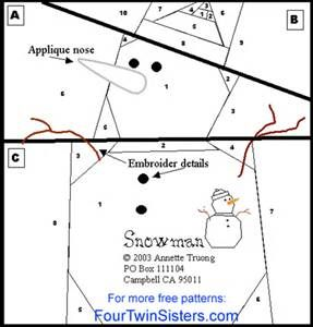 Free Paper Pieced Quilt Patterns Christmas.Free Paper Pieced Snowman Quilt Patterns Bing Images