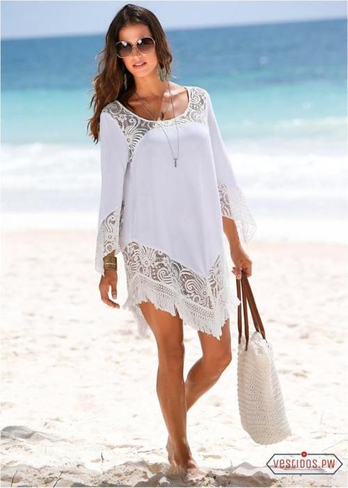 Outfits para la Oficina Vestidos blancos para playa Vestidos