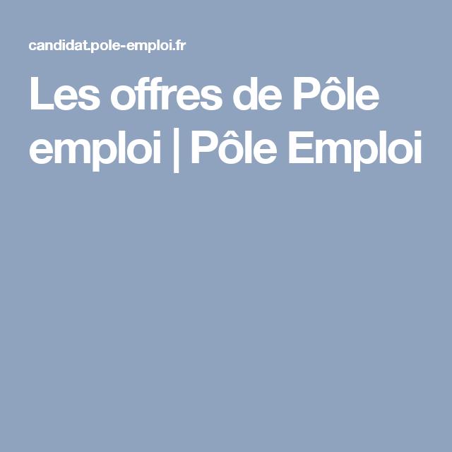 les offres de p u00f4le emploi