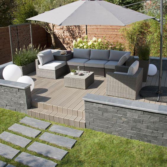Salon de jardin en rotin Sulana | Patio/terrasse | Salon de ...
