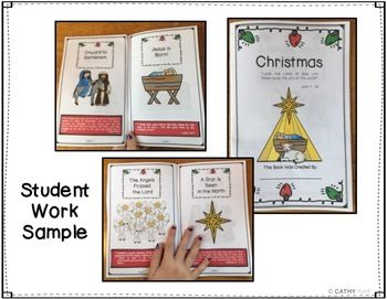 Christmas Mini Book Craftivity Sequencing Game Teaching Posters