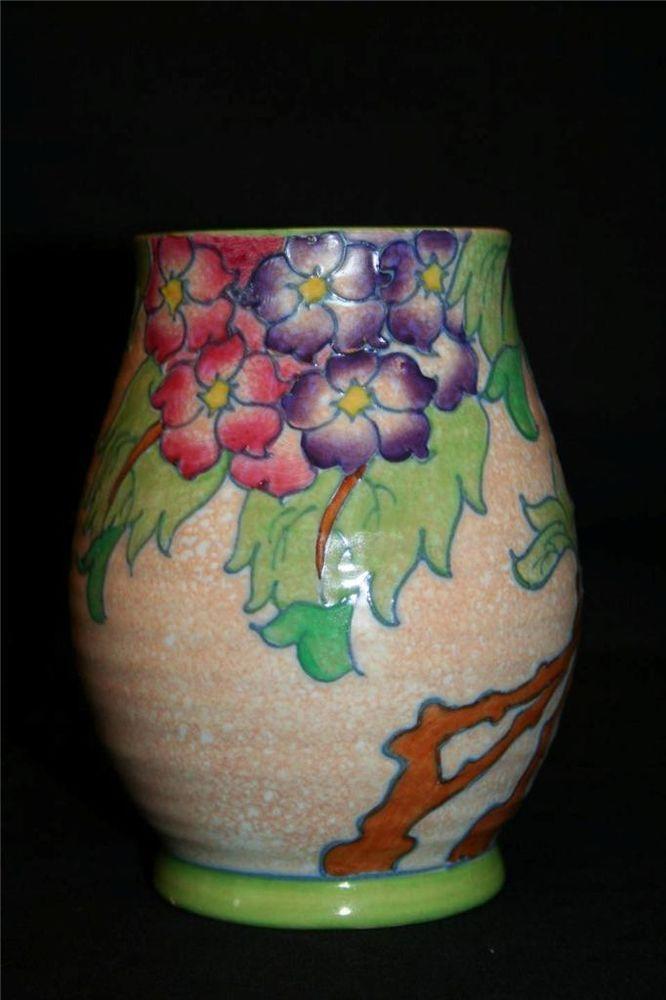 Charlotte Rhead For Crown Ducal Hydrangea Pattern Vase No 3797 On