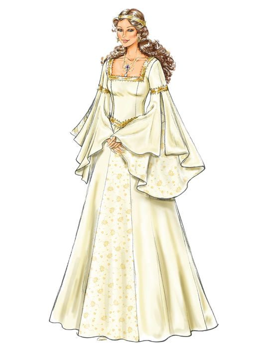 B4571 | Medieval Clothing | Pinterest | Patterns and Sewing patterns