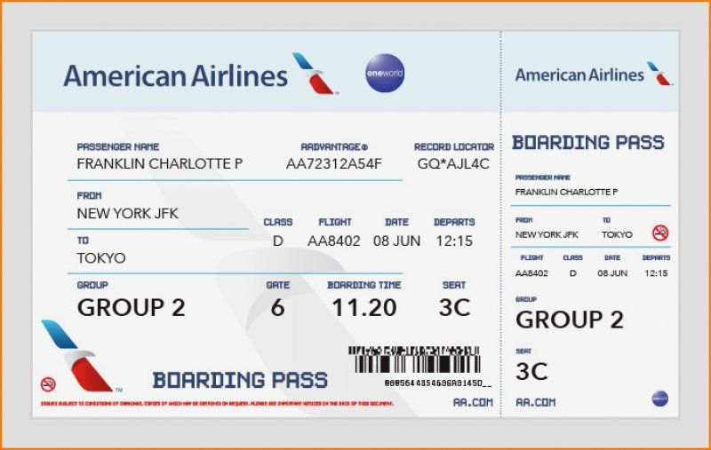 17 American Airlines Ticket Template Ideas Airline Tickets Ticket Template Best Airlines