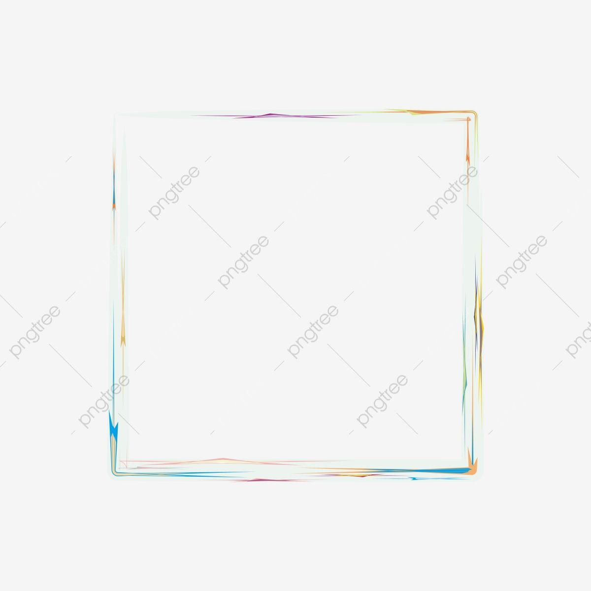 إطار مربع بالألوان المائية اعمال توضيح الورق Png صورة للتحميل مجانا Square Frames Clip Art Frame