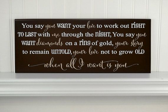 U2 Lyrics Personalized Love Quote Sign By Crswooddesigns Wedding
