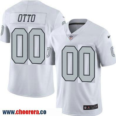 ... jersey 18a25 5cc3d  discount mens oakland raiders 00 jim otto retired  white 2016 color rush stitched nfl nike limited 3912d2950