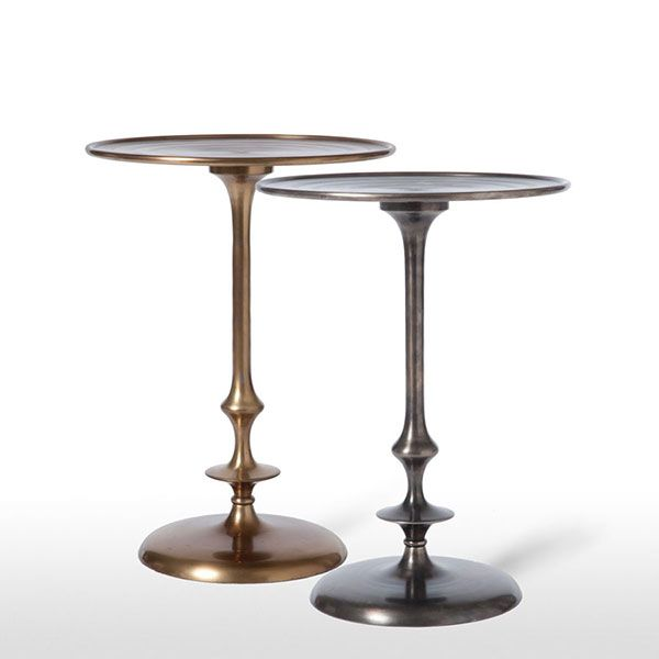 Contemporary Pedestal Side Table We Love The Sleek Elegance Of This  Contemporary Pedestal Side Table
