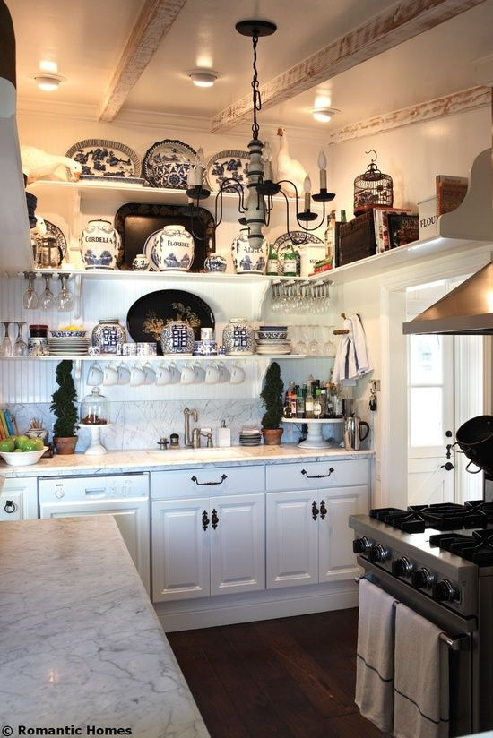 blue willow kitchen | french decor and accents | pinterest | cottage