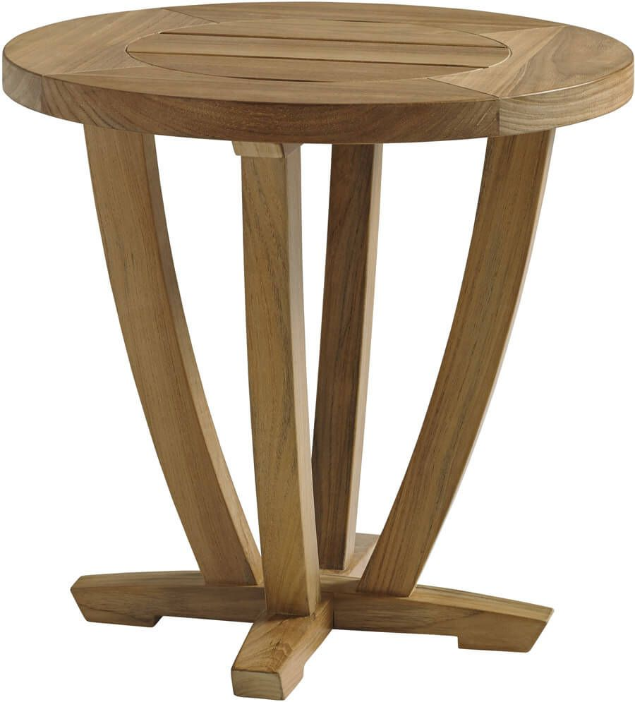Feel The Luxuriant Buffed Surface Of The Gloster Oyster Reef Side Table And  You Will Understand Why Teak Wood Is One Of The Most Prized Op