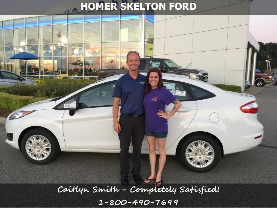 Homer Skelton Ford Olive Branch >> Caitlyn Smith Reviews The 2015 Ford Fiesta She Purchased