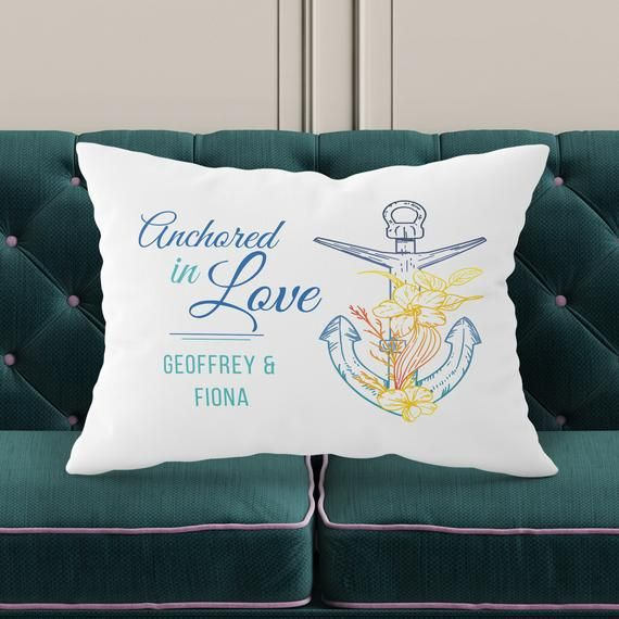 Anchored in Love Pillowcase, Pillow Covers 20x30, Wedding Pillow Case, Gift for Couple, Wedding Favor for Guests