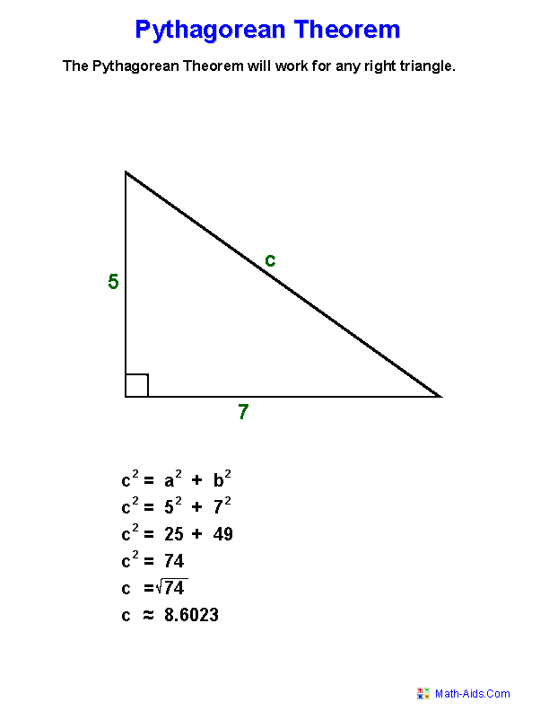 Pythagorean Theorem Definition Worksheets A Great Perhaps