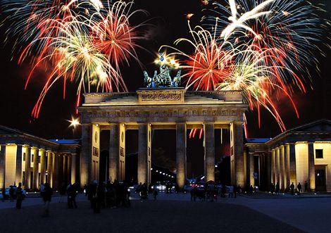 Silvester 2021 Berlin Brandenburger Tor