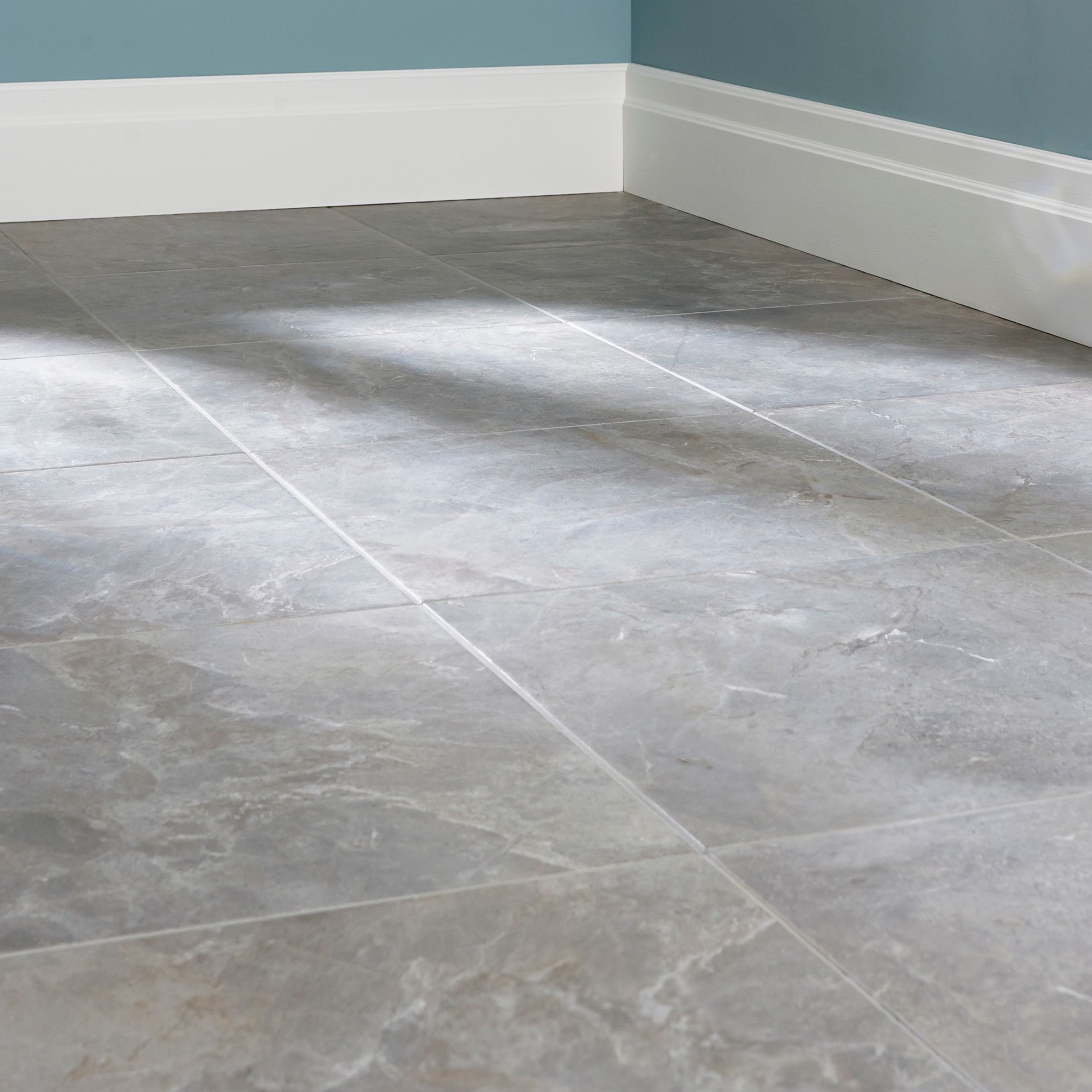 Burlington Pebble Stone effect Ceramic Wall & floor tile, Pack of 4 ...