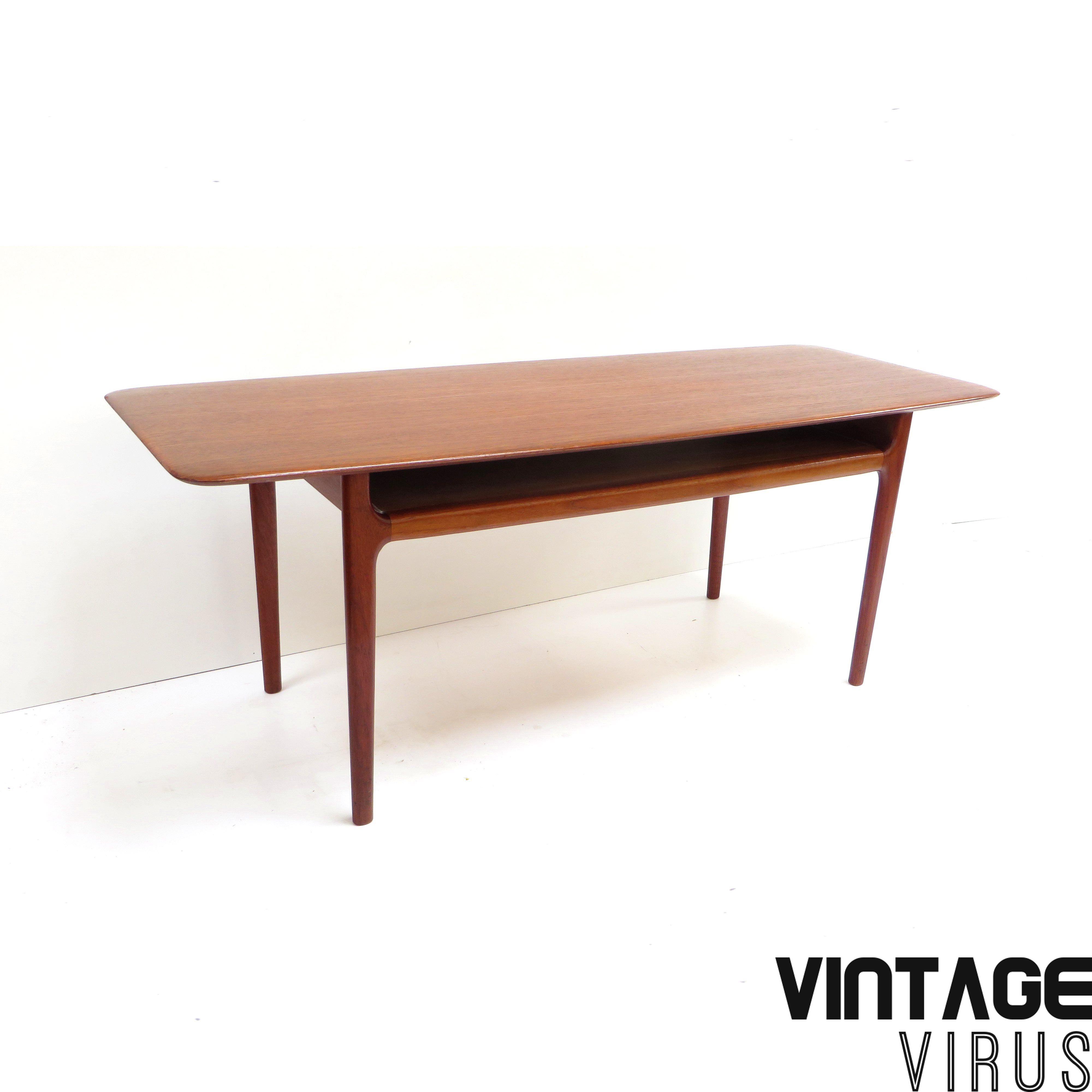 Salontafel Hoogte 50 Cm.Prachtige Deens Design Salontafel Door Niels Bach Met Organische