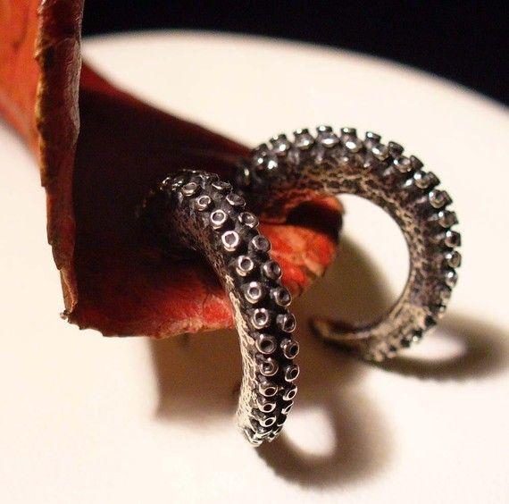Octopus earrings.