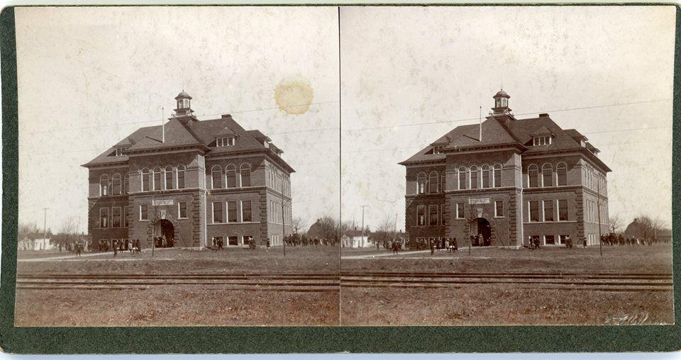 Photograph Of Royal Oak Union School On The Backside Is