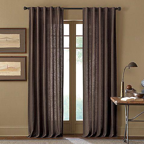 Malta 63 Inch Rod Pocket Back Tab Window Curtain Panel In