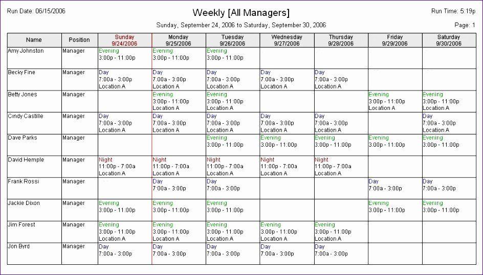 Restaurant Employee Schedule Template Unique 6 Excel Employee Schedule Template Excel Employee Handbook Template Homeschool Schedule Template Schedule Template
