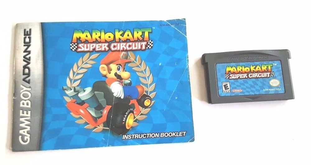 Gameboy Advance Game Gba Sp Ds Mario Kart Super Circuit Manual