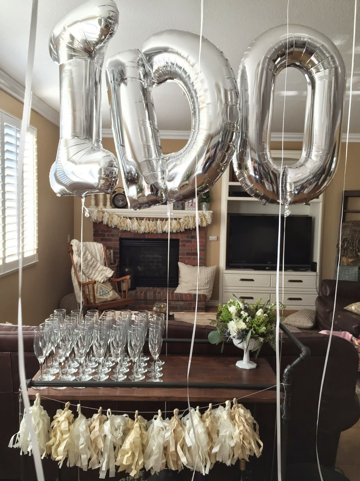 Gold silver and white engagement party party decor - Black silver and white party decorations ...