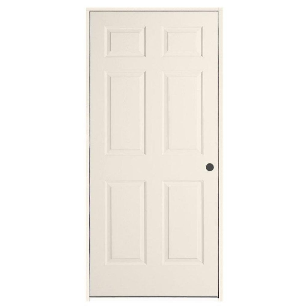 26 inch hollow interior home door brown.