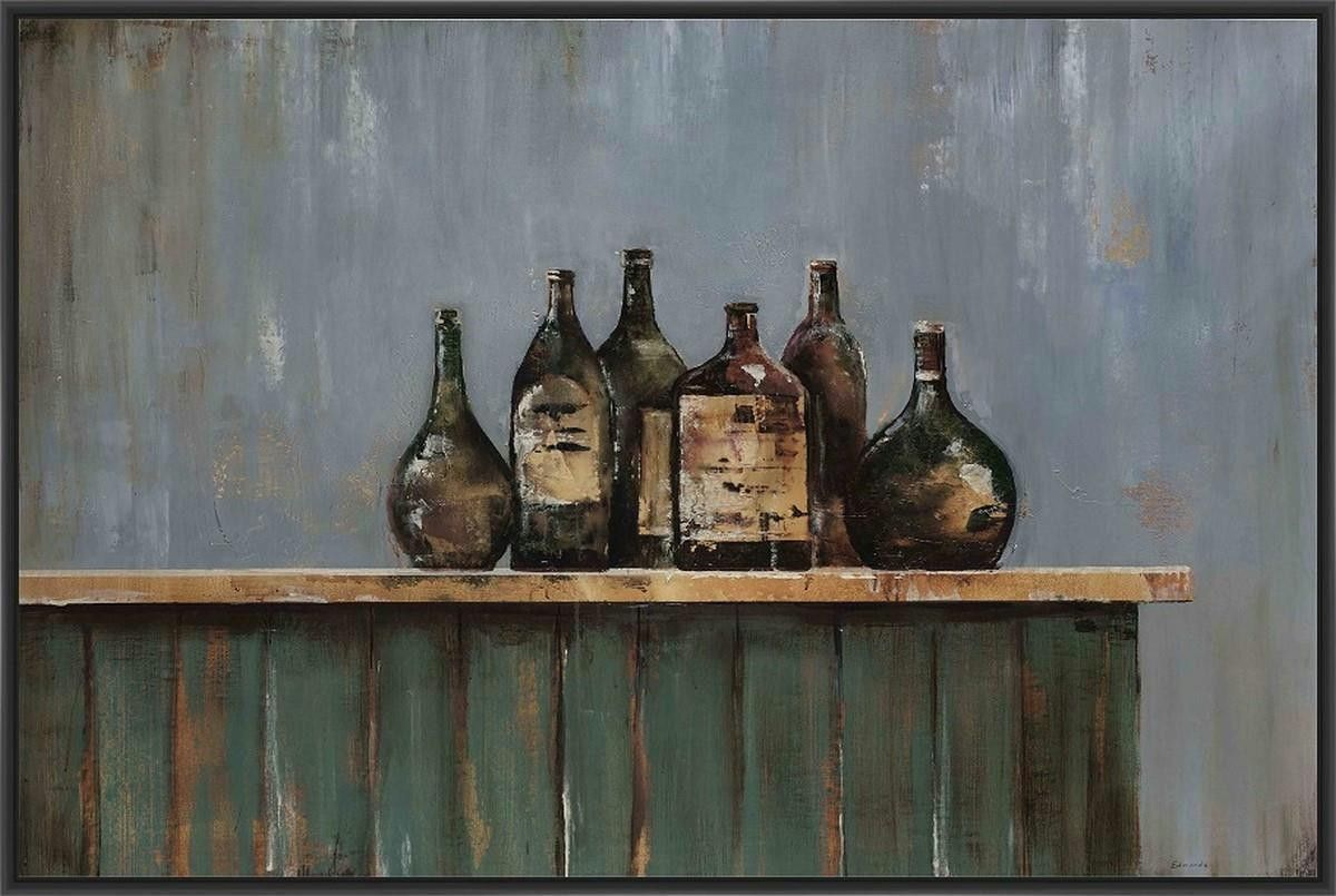 AGED EXCELLENCE 22L X 28H Floater Framed Art Giclee Wrapped Canvas