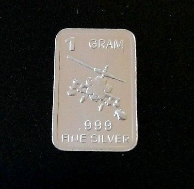 1 Gram Silver Bar Apache Helicopter 999 99 9 Fine Pure Silver Bar Bullion Bu Gold Bullion Bars Silver Investing Sell Silver