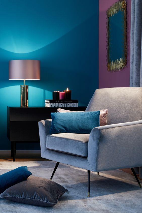 Velvet Dream! Eine kuschelige Leseecke mit Samt Sessel in Grau und - wohnzimmer petrol grau