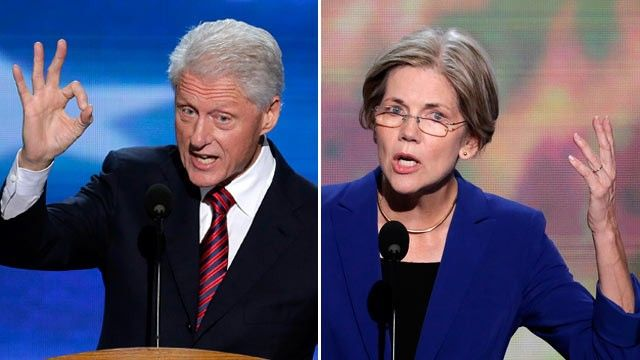 real leaders ~ Clinton and Warren (imagine the two of them on the presidential ticket!)