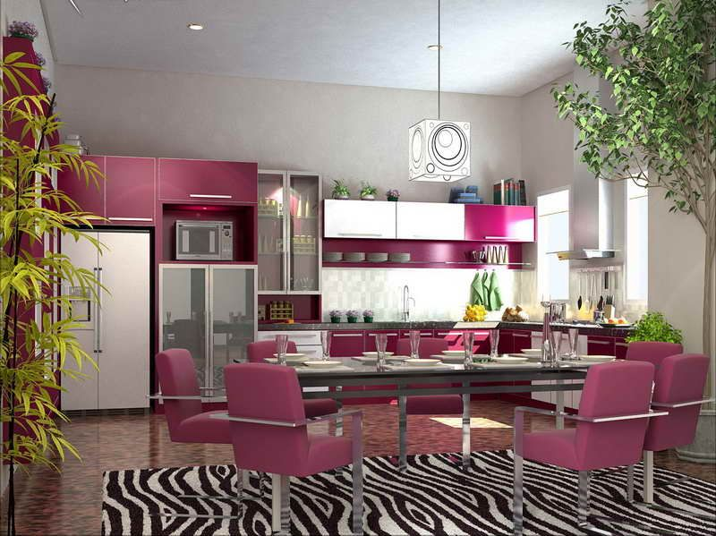 pink painting kitchen cabinets ideas 2015 478 home decor ideas - Violet Kitchen 2015