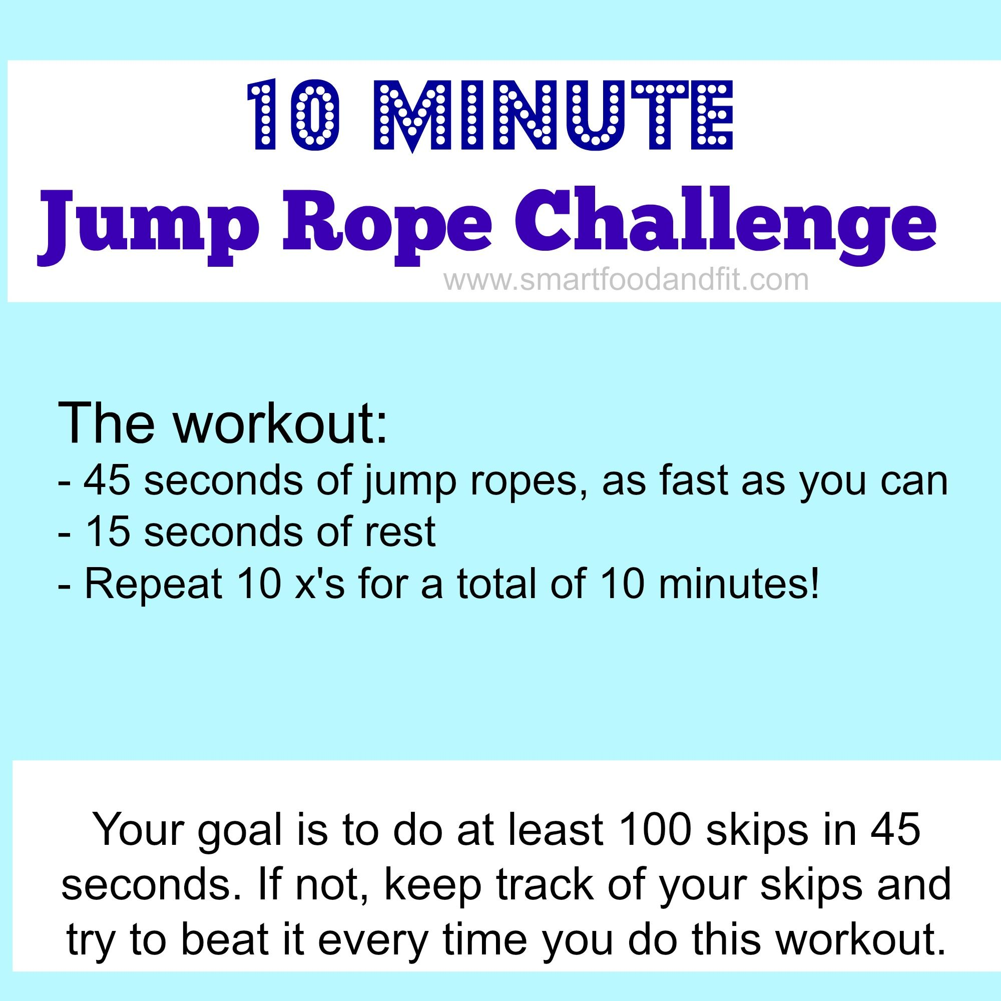 10 Minute Cardio Rope Exercises Jump Rope Challenge Jump Rope