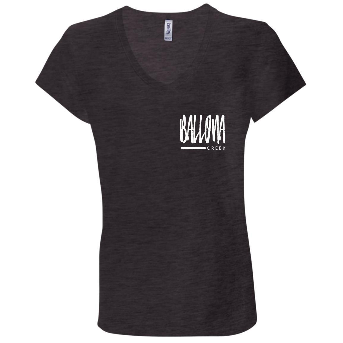 Ladies V-Neck T-Shirt – Dark Grey Heather / 2XL