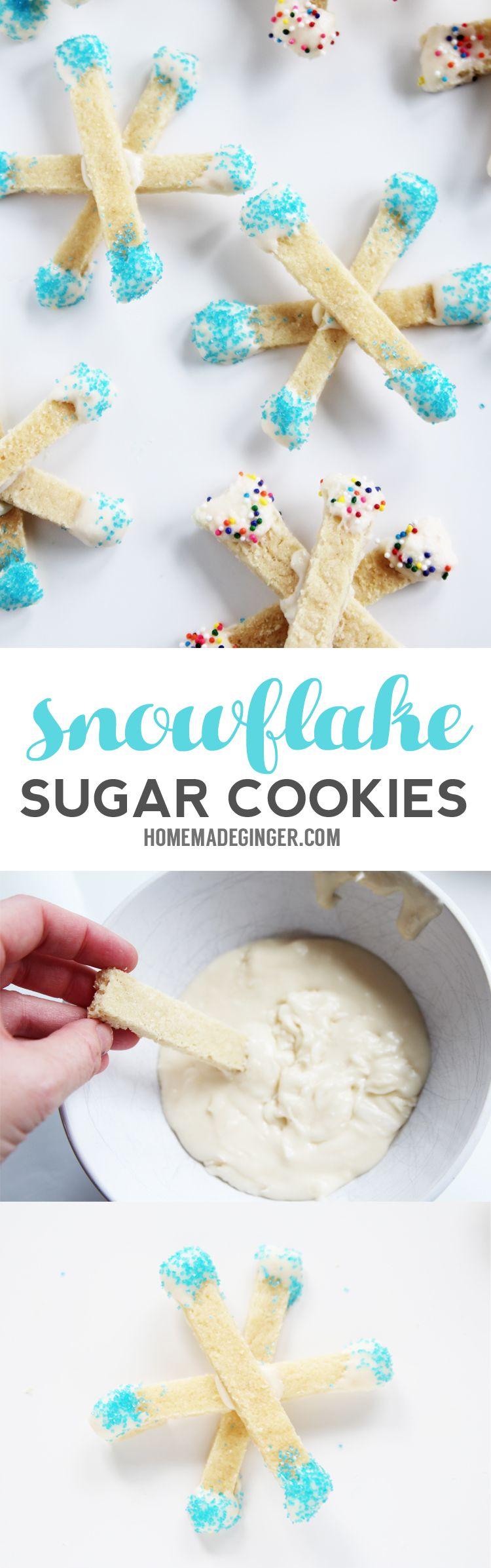 The Easiest Snowflake Cookies Ever Snowflake Cookies Craft And