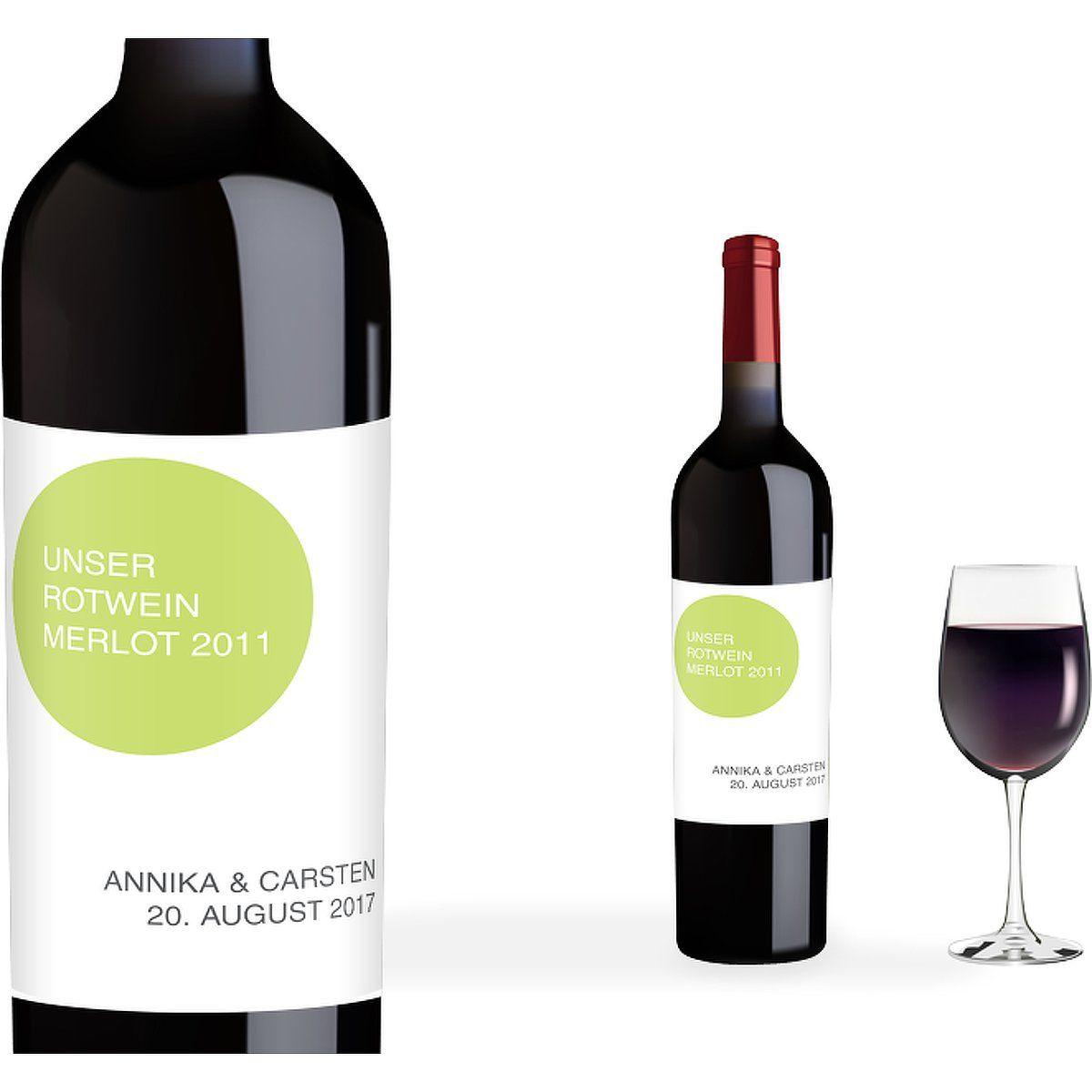 Flaschenetikett Hochzeit Statement Apfelgrun Flaschenetiketten Hoch 90 X 120mm 5 Stuck Bottle Drinks Wine