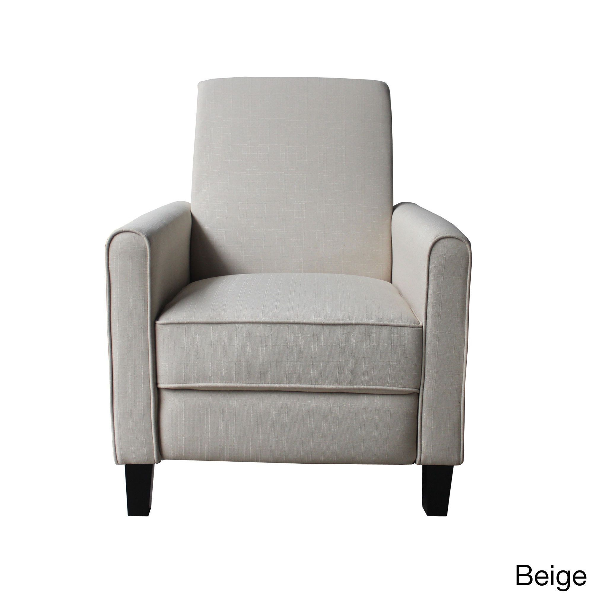 Contemporary fabric compact recliner chair beige us