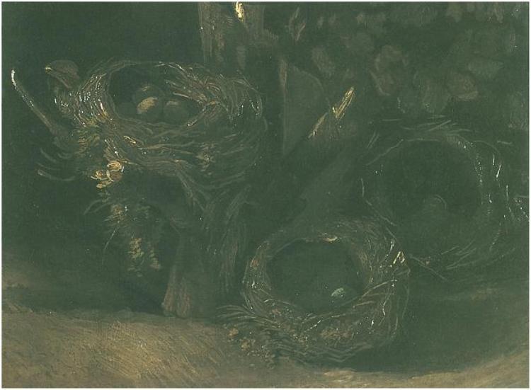 Vincent van Gogh Still Life with Three Birds' Nests Painting