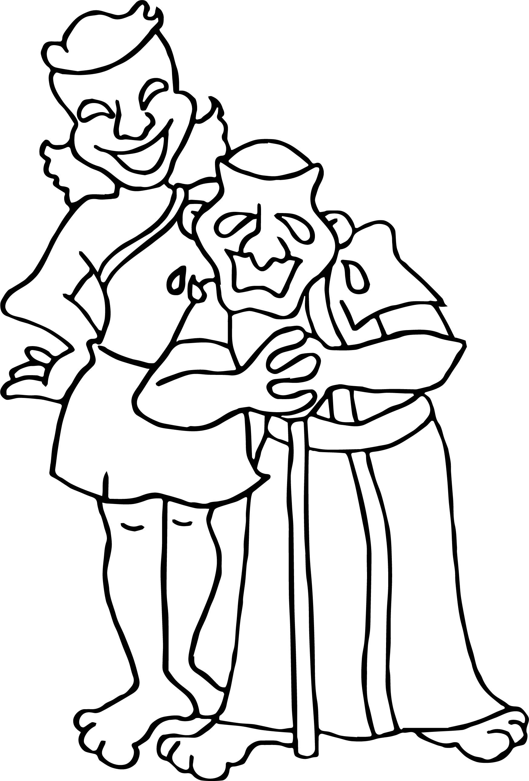 Nice Greece Theater Coloring Page
