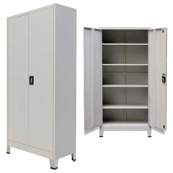 Briony 4 Shelf Storage Cabinet In 2020 Filing Cabinet Storage Office Storage Cabinets Outdoor Storage Cabinet